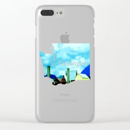 All At Once We Had It In For The Sky Clear iPhone Case