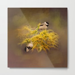 Pot of Gold - Chickadees - Song Birds - Wildlife Metal Print