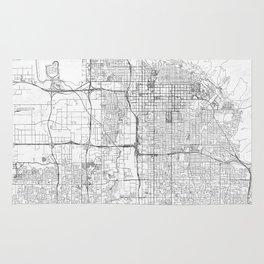 Salt Lake City Map Line Rug