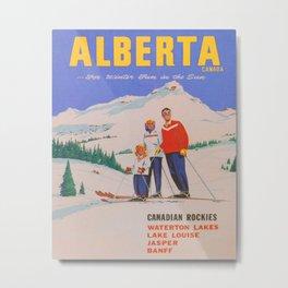 Alberta, Canada Vintage Travel Poster Metal Print