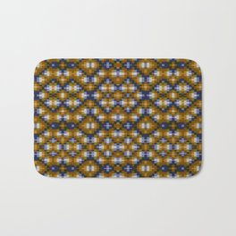 Toffee pixels - pattern Bath Mat