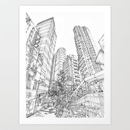 Hong Kong Shelley St Art Print