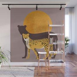 Golden Jungle Sunset Wall Mural