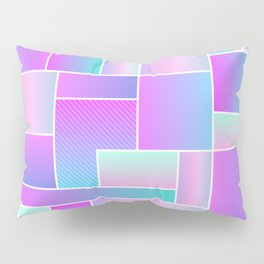 Abstract Holographic Pastel Pattern Pillow Sham