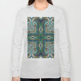 Celtic Cross - Abstract Art by Fluid Nature Long Sleeve T-shirt