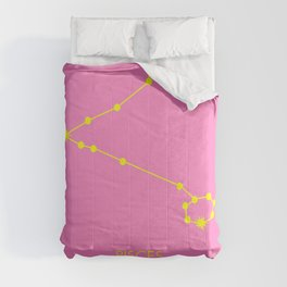 PISCES (YELLOW-PINK STAR SIGN) Comforters