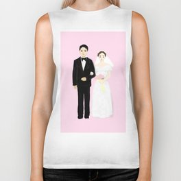bride and groom Biker Tank