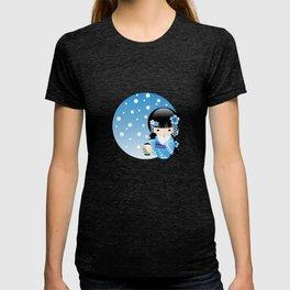 Japanese Winter Kokeshi Doll T-shirt