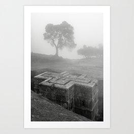 Bet Gyorgis Rock Church.  Lalibela, Ethiopia. Art Print