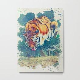 Tiger artwork Metal Print