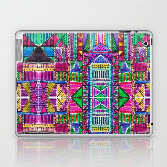 Tribal Patchwork Pink Laptop & iPad Skin