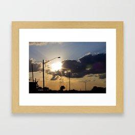 goodbye. Framed Art Print