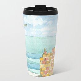 Beach in my Backyard - watercolour print 2 Travel Mug