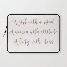 A girl, a woman and a lady - rose gold Laptop Sleeve