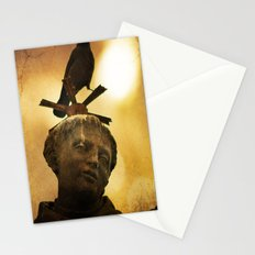 The Watcher of  Charles Bridge Stationery Cards