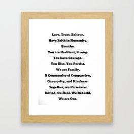 One: Hurricne Harvey Donation Art Framed Art Print