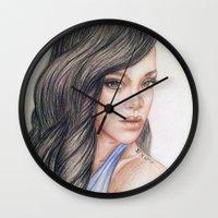rihanna Wall Clocks featuring RIHANNA by Hileeery