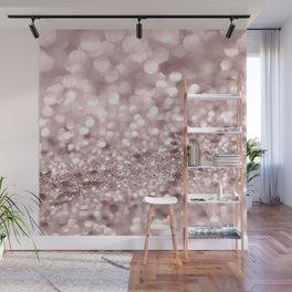Sparkling Rose Gold Blush Glitter #1 #shiny #decor #art #society6 Wall Mural