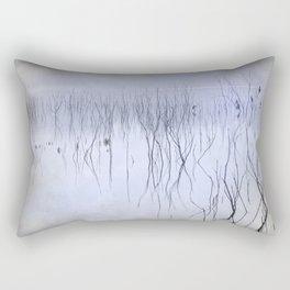 Cormorants in the fog Rectangular Pillow