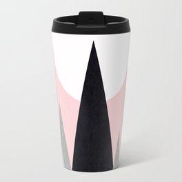 Minimalist mountains and pink Travel Mug