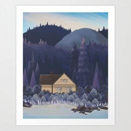 Canada Series: Hidden House Art Print