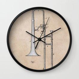 patent Hankey Slide Trombone 1902 Wall Clock