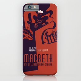 Retro Macbeth William Shakespeare iPhone Case