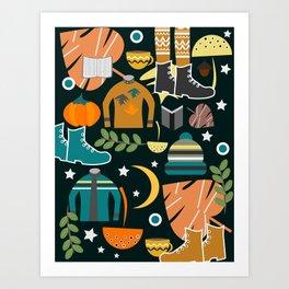 Autumn clothing Art Print