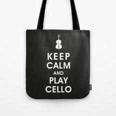 Keep Calm and Play Cello Tote Bag
