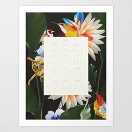 CALENDAR 2020 / ENGLISH VERSION Art Print