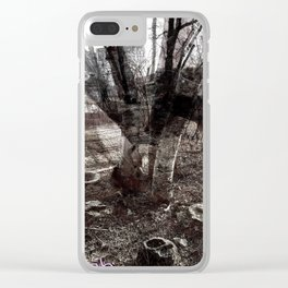 Ghosts in the Yard Clear iPhone Case