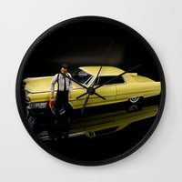 reservoir dogs Wall Clocks featuring Reservoir Dogs 1965 Cadillac Coupe De Ville by Ewan Arnolda