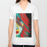 indie V-neck T-shirts featuring Mosaic Indie by Sartoris ART