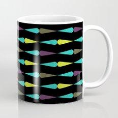 Droplet pattern - purple, teal, lime Mug