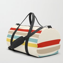 Brazilian Retro Stripes Duffle Bag
