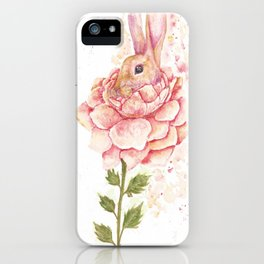 Flower Bunny iPhone Case