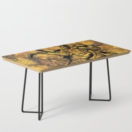 Crushed Skull Drawing Coffee Table