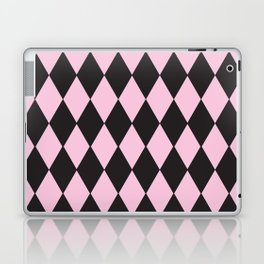 Harlequin pink & black Laptop & iPad Skin