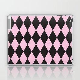 Harlequin pink & black Laptop & iPad Skin