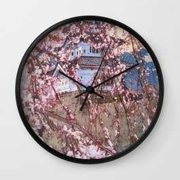 Cherry Blossoms 8scenes, Hirosaki Castle - Digital Remastered Edition Wall Clock