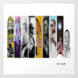 Mac Miller Albums Poster , Canvas Poster, Home Decor Art Print