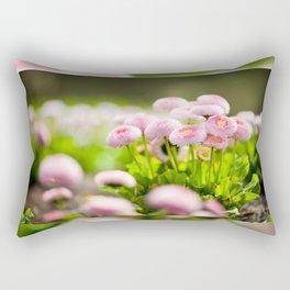 Bellis perennis pomponette called daisy Rectangular Pillow