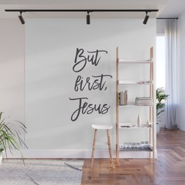 But Trust Jesus, Victory, Keep Calm, Stay cool, Christian, Peace, Blessing, Holy Spirit, Christ Wall Mural