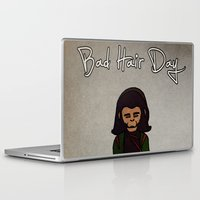 planet of the apes Laptop & iPad Skins featuring bad hair day no:1 / Planet of the Apes by niles yosira