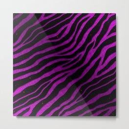 Ripped SpaceTime Stripes - Pink/Purple Metal Print