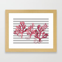 Simply seaweed with stripes Framed Art Print