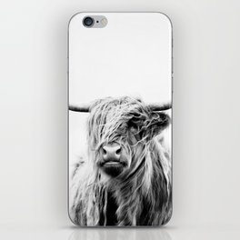 portrait of a highland cow iPhone Skin