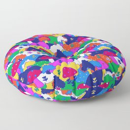 Trippy Hippie Hills Floor Pillow