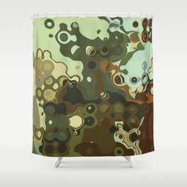 RETRO Mid Century Modern Abstract Pattern Geometric Art by Michel Keck Shower Curtain