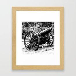 Civil War Cannon Framed Art Print